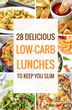 28 Delicious Low-Carb Lunches to Keep You Slim, All the Low-Carb Lunch Recipes You'll Ever Need (healthy lunch ideas low carb) Lunch Recipes, Diet Recipes, Sweets Recipes, Desserts, Clean Eating, Healthy Eating, Breakfast Healthy, Healthy Low Carb Recipes, Skinny Recipes