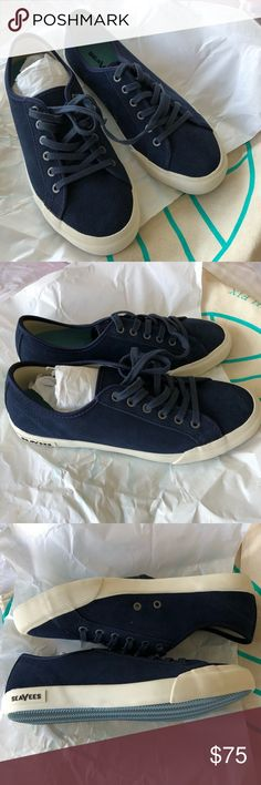 NIB SeaVees Navy Blue Suede sneaker New in Bag, SeaVees casual sneaker in Navy Blue suede. Purchased via Stitch Fix for $88. Brand new size 8 , fits TTS SeaVees Shoes Sneakers