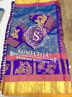 Kanchipuram pattu sarees with Maggam work blouses by Suneetha Designer boutique! Work Blouse, Blouse Designs, Beach Mat, Outdoor Blanket, Boutique, Sarees, Blouses, Scrub Tops, Saris