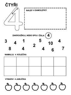 Čísla - pracovní listy