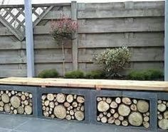 outdoor patio on a budget. furniture made of pallets topped with ...