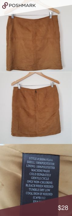 Sanctuary Suede Mini Brown Skirt In good condition skirt. No rips or stains. Perfect for Fall with booties! Sanctuary Skirts Mini