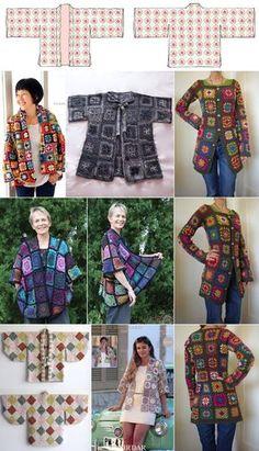 Granny Square Haoiri (Kimono Coat/Jacket)
