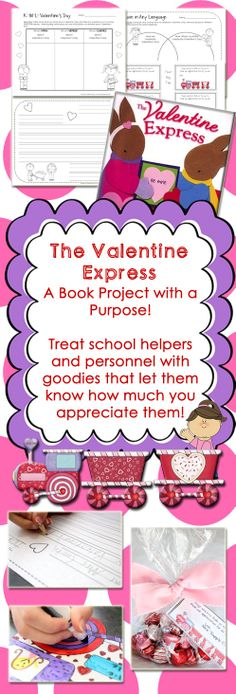 The Valentine Express by Nancy Elizabeth Wallace book project and printables $
