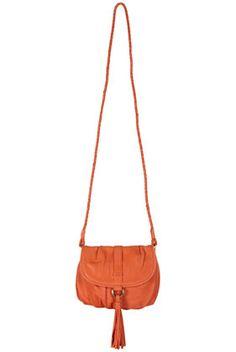 Red Tassel Front Leather Bag