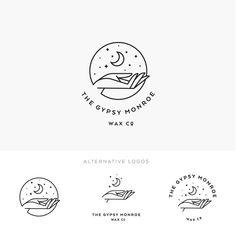 Moon and Stars Logo Branding Kit Template Bohemian Moon Massage Logo, Logo Branding, Branding Design, 1 Logo, Business Branding, Hand Logo, Shop Logo, Creative Logo, Watermark Ideas