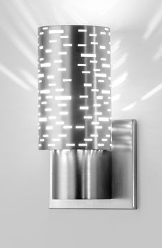 Hart Lighting 1021SN LED wall sconce with 1192 Perforated Steel shade