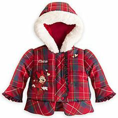 Disney Minnie Mouse Holiday Puffy Coat for Baby - Personalizable   Disney StoreMinnie Mouse Holiday Puffy Coat for Baby - Personalizable - Wrap up your little one for the holidays with this super snuggly puffy coat. The fleece lining, faux fur trimmed hood, and Minnie's heart of gold will keep her all toasty. Personalize it to make it the perfect gift.