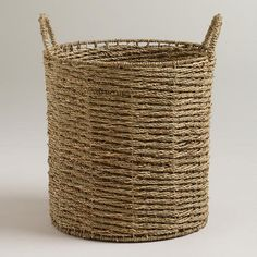 WorldMarket.com: Trista Seagrass Tote Basket...I need 3 or 4 so I can get the laundry off my floor. ;)