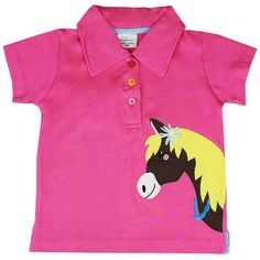 Kidswear Singapore @ Honey & Clover | Pretty Pony Polo Tee in Pink by Jumping Beans