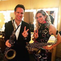 Eric Marienthal And Candy Dulfer Representing Vandoren On The Smooth Jazz Cruise