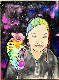 It's that magical time of year again! My fifth graders have been working very very hard on their watercolor Surreal Self Portraits!! Here ar...