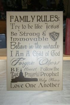 LDS Family Rules vinyl-decals-just-for-you