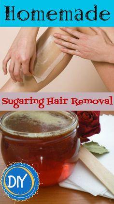 DIY: Homemade Sugaring Hair Removal Sugaring Hair Removal, Hair Removal Diy, Hair Removal Cream, Homemade Beauty, Diy Beauty, Beauty Skin, Beauty Hacks, Homemade Sugar Wax, Homemade Hair