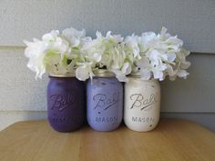 Painted and Distressed Ball Mason Jars Dark by theretroredhead, $21.00