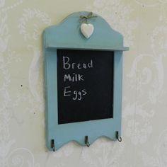 Chalkboard Blackboard Duck Egg Blue Shabby Country Kitchen Accessory Chic Gift | eBay