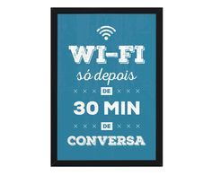 Quadro Decorativo Slim Black Wi-Fi Só Depois - 33X47cm