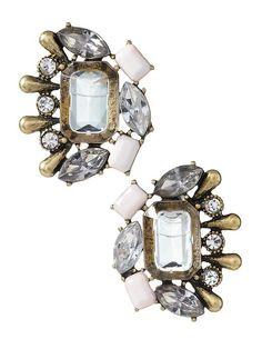 vintage-inspired cluster earrings