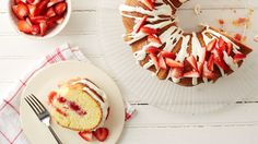 This fun poke bundt cake puts a whole new spin on strawberry shortcake!