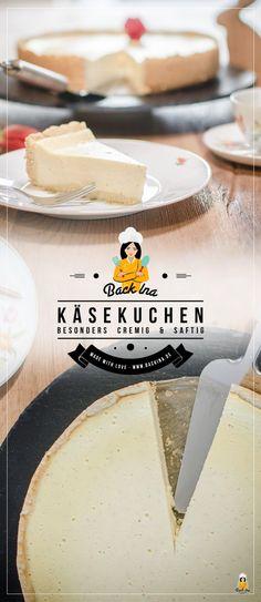 Das ist der wohl cremigste Käsekuchen nach klassischer Art, den du backen kannst! Herrlich vanillig und mit ein wenig Rum in der Füllung kannst du deine Kaffeegäste begeistern. Ein Klassiker! | BackIna.de