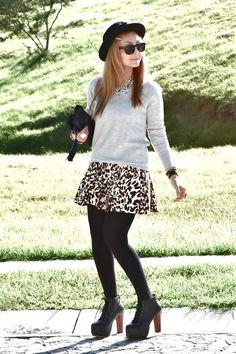 Zara skirt - Jeffrey Campbell boots - Bershka bag