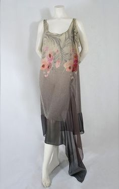 Sheer micro-beaded dress, c.1924, French. From the Vintage Textile archives.
