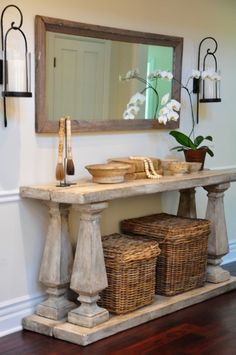 find this pin and more on decorating 2 artful arrangements vignettes styling entry table great chunky console - Console Table Decor