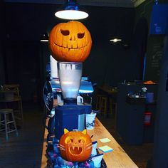 #pumpkin 🎃.. for carving.. not a latte flavour #halloween #edinburgh #stockbridge #barista #baristalife  #baristawitches