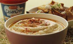 Receta Hummus en pan árabe crocante de Casancrem
