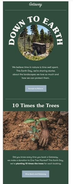 One Tree, Giving Back, Make A Donation, Earth Day, Trees To Plant, Email Marketing, Did You Know, Canning, Landscape