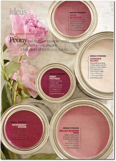 Give your rooms a dusting of soft pink for an all-over glow. Paint Colors Used: Venetian by Ralph Lauren Paint Mauve Glow by Valspar Demure Pink by Behr Pink Mimosa by Glidden Demure by Olympic via bhg Interior Paint Colors, Paint Colors For Home, Purple Paint Colors, Peony Colors, Interior Design, Decoration Inspiration, Color Inspiration, Colour Schemes, Color Combos