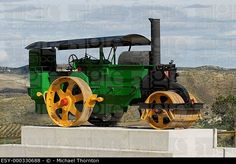 Old fashioned steamroller in Andalucia, Spain