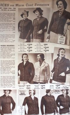 1931 Winter Sweaters