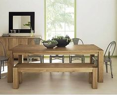 Check out the Big Sur Large Dining Table in Dining Tables, Furniture from Crate & Barrel for Dining Table With Bench, Kitchen Benches, Dining Room Table, Wood Table, Dining Set, Dining Rooms, White Oak Dining Table, Modern Dining Table, Farmhouse Style Kitchen