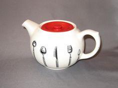 Bristol Long Line Kitchenware, Pountney & Co. Ltd, Teapot Kitchenware, Tableware, Teapot, Bristol, Line, Pottery, Ebay, Vintage, Ceramica