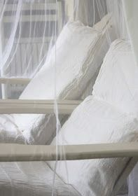 erin's art and gardens: the lovely veil of mosquito netting...