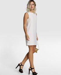 Vestido recto de mujer Fórmula Joven en blanco