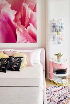 Tons de rosa na decoração