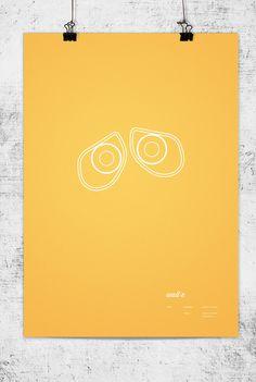 Disney minimalist posters - Wall-E