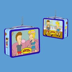 Amazon.com - Beavis and Butt-Head Blue Mini Tin Lunch Box Christmas Ornament - Decorative Hanging Ornaments