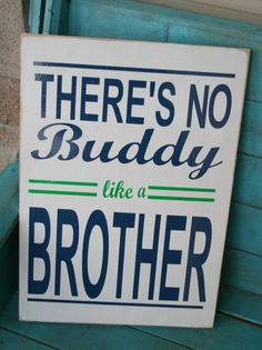 There's No Buddy Like a Brother Vinyl Sign CUSTOMIZABLE Choose Your Colors Boys Room Playroom Nursery Decor Baby Gift on Etsy, $44.00