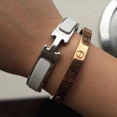 White Clic Clac Bracelet Hermes Silver Has Brand