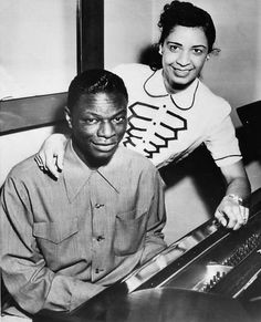 Nat King Cole w/ wife Maria