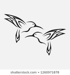 Image vectorielle de stock de Vector Image Hummingbird Design On White 208881625 Thumb Tattoos, Hand Tattoos, Small Tattoos, Tatoos, Fox Tattoos, Tree Tattoos, Deer Tattoo, Raven Tattoo, Arm Tattoo