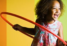 Kids can exercise different parts of the body by hooping around their waists, arms, or legs. Lay hoops on the floor in patterns so kids can jump from one to another. You can also toss hoops trying to loop them over stationary items. Or see who can roll their hoop the farthest.
