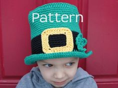 St Patricks crochet Patterns | St Patricks Day Hat Crochet PATTERN by taraduff on Etsy
