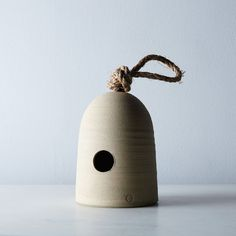 Bring the birds and the bees together! This hive inspired bird house hangs out all season long and blends in with it's natural surroundings. Photo credit: Food5