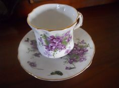 Victorian Violets is a discontinued pattern. This cup dates to at least the 1970's when it was purchased.