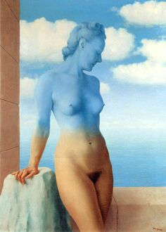 "Rene Magritte: ""Black Magic"", 1945 in Brussels, Belgium. Style: Surrealism. Technique: Oil on canvas."