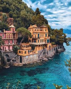 In pretty Portofino, Italy.